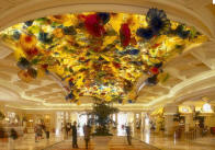 Bellagio Las Vegas lobby glass chandelier by Dale Chihuly