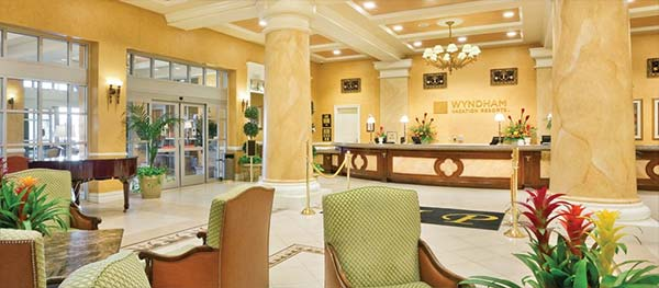 Wyndham Desert Resort Reception Lobby
